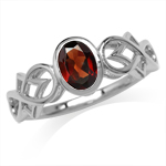 Natural Oval Shape Garnet White Go...