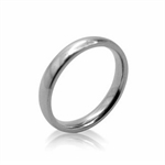 3MM Unisex Stainless Steel Wedding Band Style Ring